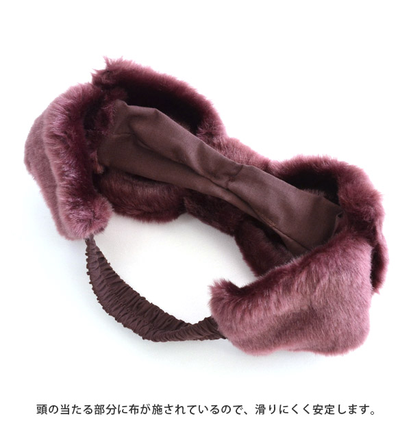 蝴蝶結頭巾/傾向的毛皮材料!大的大的很大的蝴蝶結的發帶。女子的ribon頭髮頭巾頭髮配飾發帶◆假貨毛皮BIG蝴蝶結頭巾
