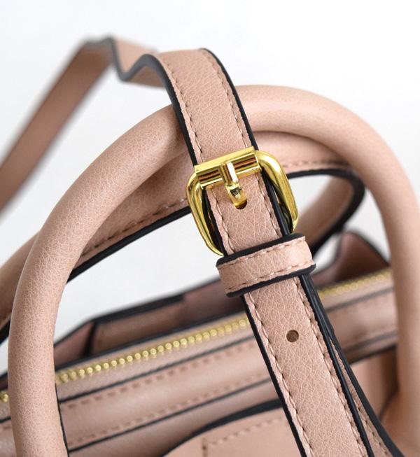 ショルダーバッグ / おめかし感がUPする、控えめサイズの ボストンバッグ 。 レディース バッグ ◆Legato Largo(レガートラルゴ):シュリンクフェイクレザー ボストンミニショルダーバッグ
