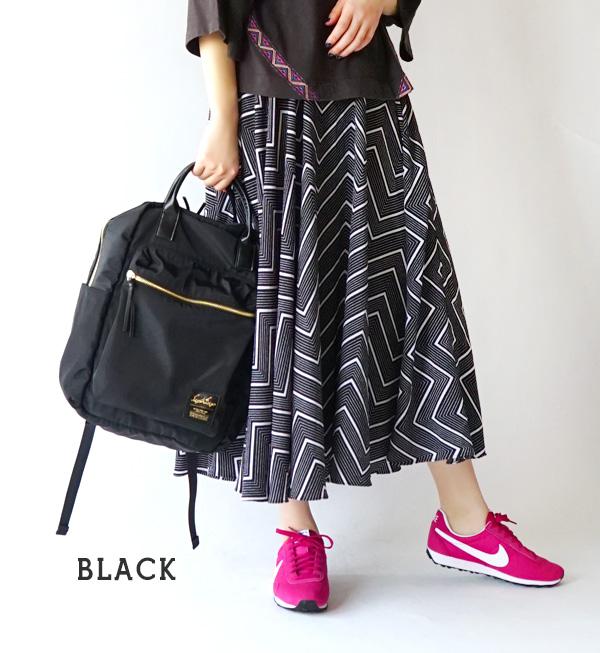 容易用10個口袋做整理整頓的大容量的帆布背包。在好像在成熟穩重的彩色和假貨皮革以及箔推姓名作為大人的氣氛。 女子的帆布背包包包包包A4◆Legato Largo(連奏緩慢):高密度尼龍風格10口袋帆布背包