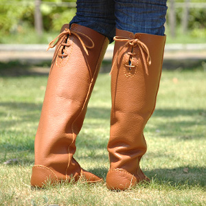 ●●Buffalo leather boots of ディウ which was particular about the subject matter simply because it was simple! Real leather long boots ◆ Diu full of the sense of quality with the length that laceup ribbon of the back is the accent ♪ person of high stature li