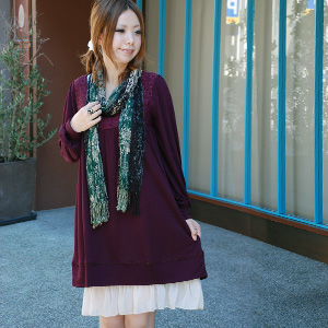 It is direction ◆ poppy flower race neck dress with the atmosphere that is romantic the silhouette which is love Lee of drape material and the A-line soft at all such as dress ♪ satin which is impressive a race of the chest which is totally delicate like