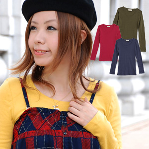 1,416 pieces are sold out! Long sleeves join it from a popular fraise T-shirt! Plain fabric Ron T which is most suitable for longish length and the inner of 100% of elasticized expensive fraise cotton from zoo tea is appearance ◆ zootie: Cotton fraise Lo