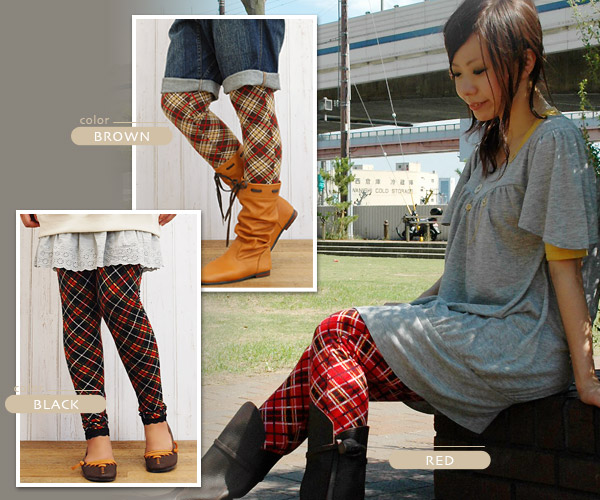 Are you a fashion senior if I wear the leggings of the big impact provided with the functionality including the race up of a waist and the hem of leggings ならでは ♪ rubber specifications of the checked pattern that the presence to get a lot of looks suddenl