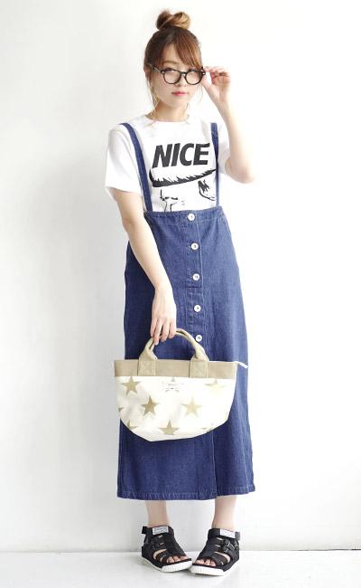 牛仔棉无袖连衣裙_e-zakkamania stores: 从粗斜纹布裙子/前看的话有吊带。后影是无袖 ...