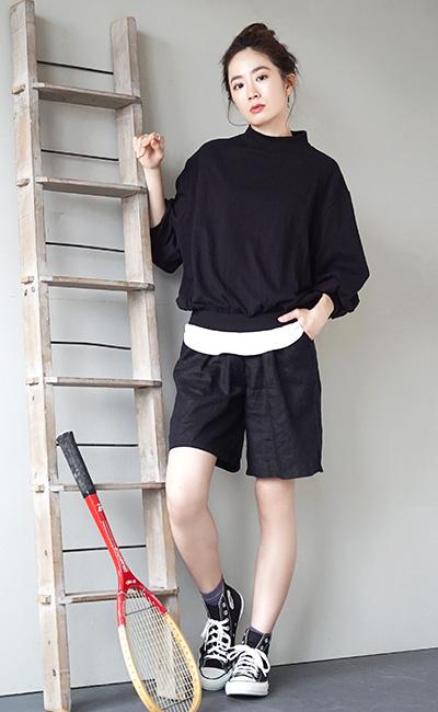 プルオーバー / 着るだけで、簡単にメリハリが作れるオトナ カットソー 。 レディース トップス Tシャツ 長袖 長そで ハイネ