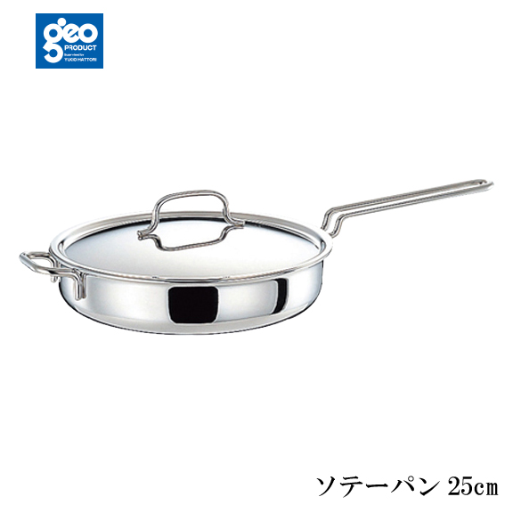 全面7層構造 ジオ・プロダクト ソテーパン25cm クッキングレシピ付 GEO-25ST 日本製(4953794016107)