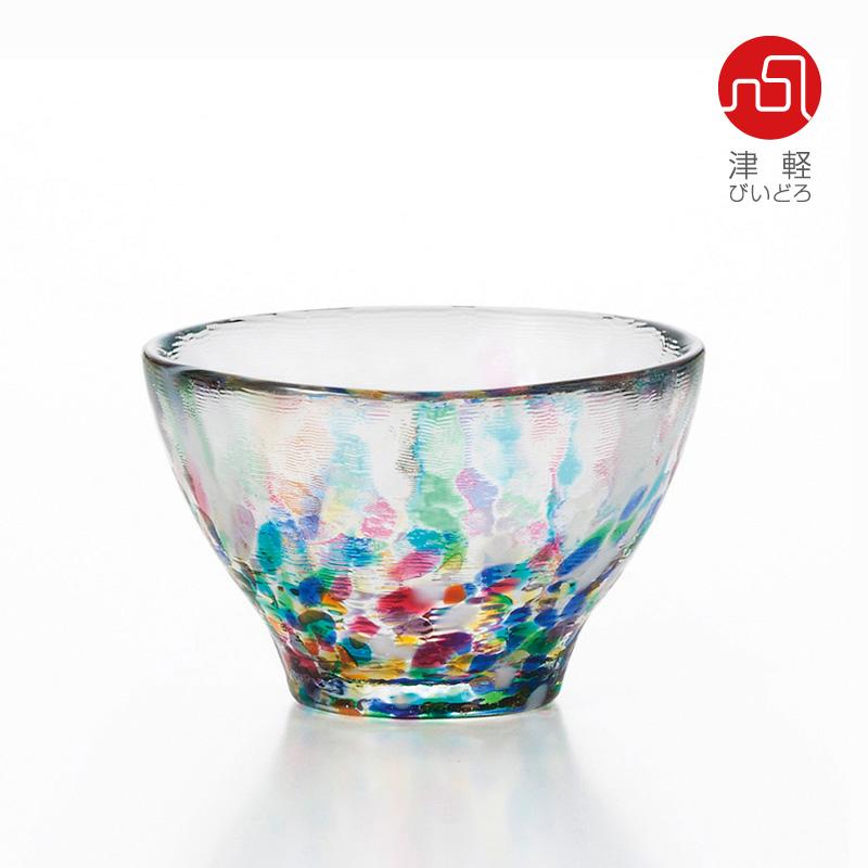 津軽びいどろ。ガラスの透明感と多彩な色が響き合います。【アデリア】【日本製】【石塚硝子】 津軽びいどろ ねぶた 盃 85ml (ADERIA GLASS) F-71241