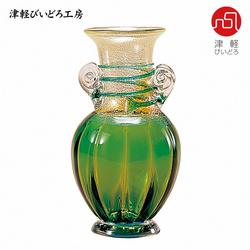 津軽びいどろ 花器 春の芽 F-79622 (ADERIA GLASS)