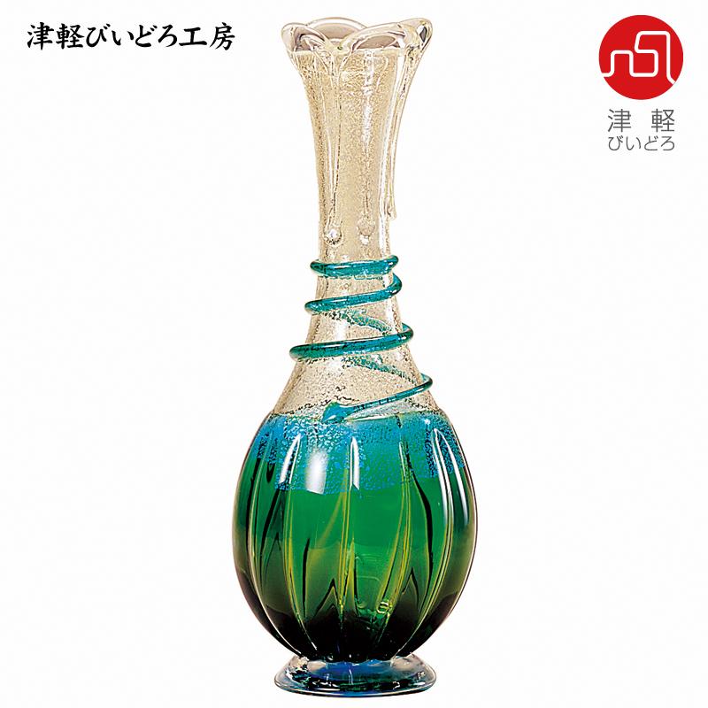 津軽びいどろ 花器 春の芽 F-79623 (ADERIA GLASS)