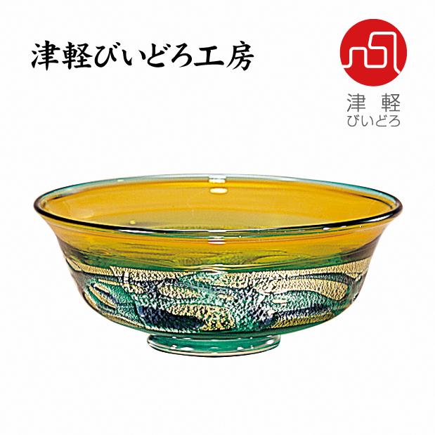 津軽びいどろ 菓子鉢 北彩 F-79634 (ADERIA GLASS)