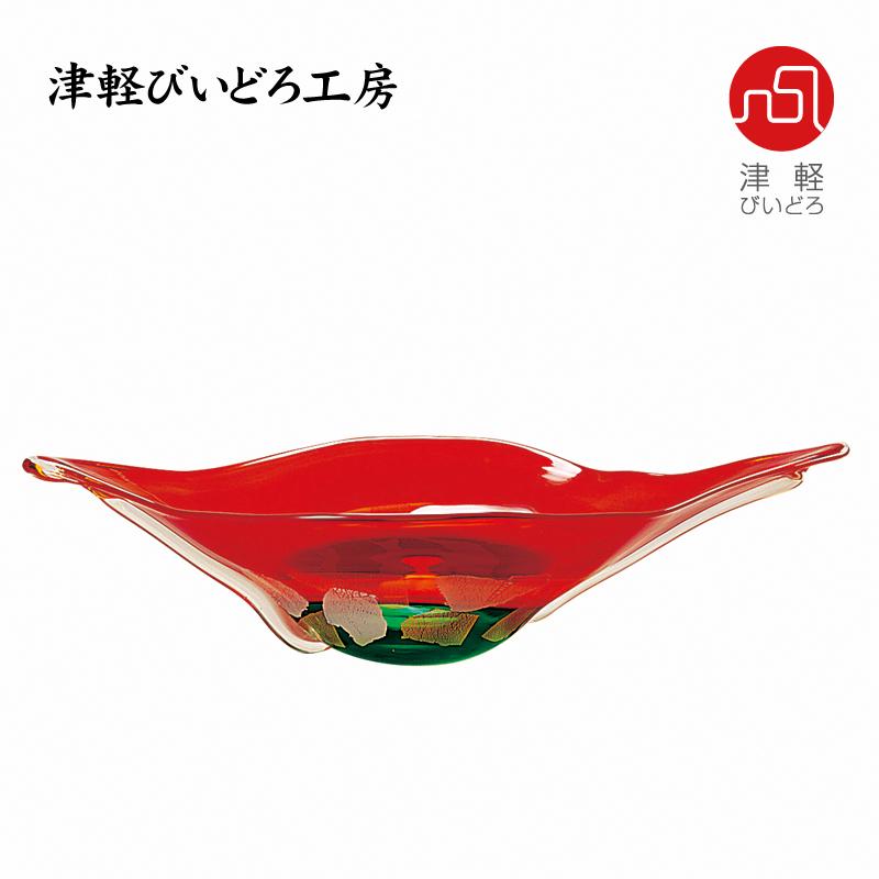 津軽びいどろ 水盤 陽彩 F-79637 (ADERIA GLASS)