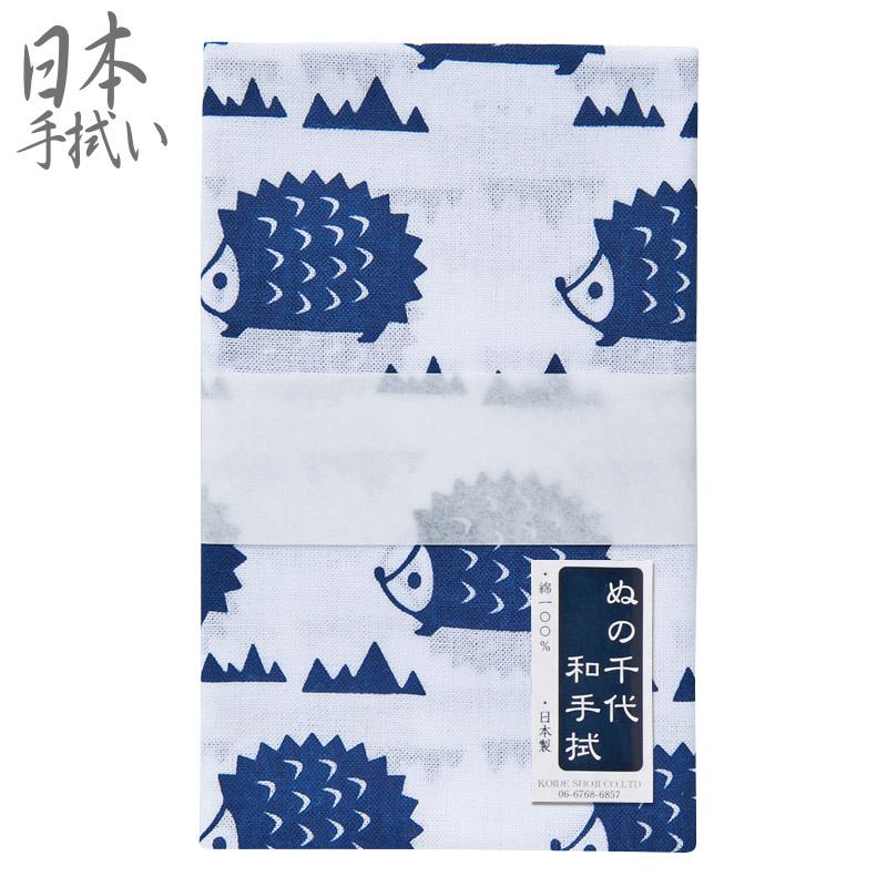 卓抜 たのしい動物編 ぬの千代 の手ぬぐい メール便可 爆売りセール開催中 TENUGUI 楽しい動物 NCD-7 日本手拭い てぬぐい 日本製 はりねずみ