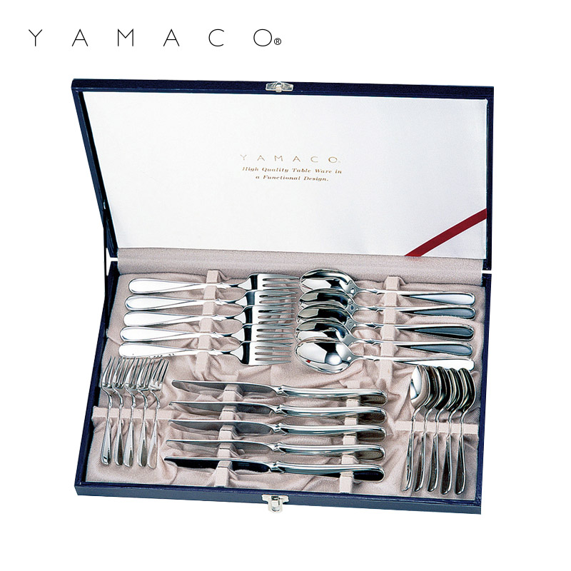 「カトラリー セット」 【YAMACO】 18-8ステンレス フローラ 25pcディナーセット FL-25 山崎金属工業株式会社