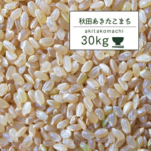 ■【30年産】 秋田県産 あきたこまち玄米30kg