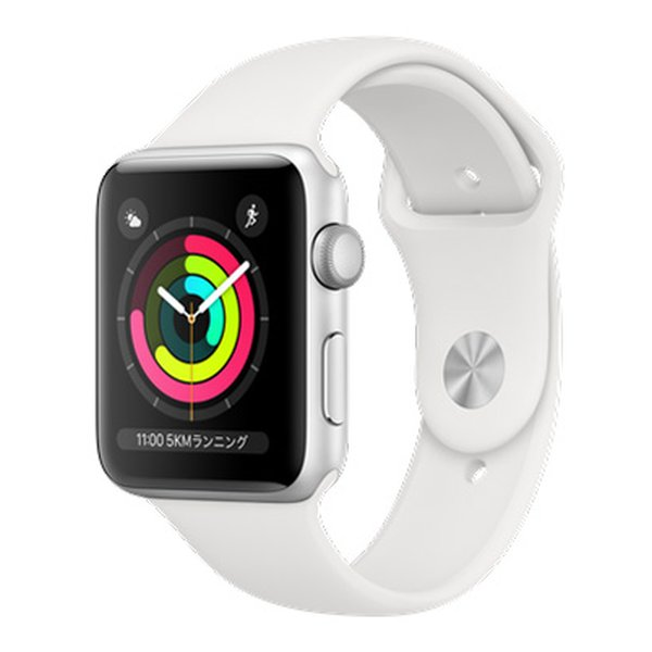 apple(アップル)AppleWatchシリーズ3 GPSモデル42mm MTF22J/A WHスポーツバ MTF22JA(2497553)送料無料
