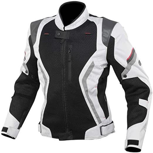 KOMINE コミネリフレクトメッシュジャケット ライトグレー×ブラック / Mサイズ JK144LGYBKM(2492899)送料無料