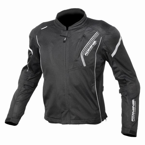 KOMINE コミネプロテクトフルメッシュジャケット SolidBlack / Lサイズ JK128SOLIDBKL(2492923)送料無料