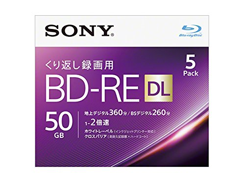 SONY ソニーBD-RE 50GB 2倍速 5枚 5BNE2VJPS2(2445818)