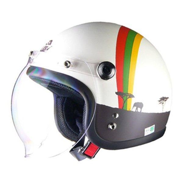 LEAD工業 リードコウギョウQP-2 スモールジェットヘルメット AFRICA QP2スモールジェットAFRICA(2458768)代引不可 送料無料