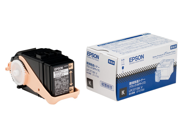 EPSON エプソンLPC3T18KV 環境推進トナー ブラック M LPC3T18KV(2255647)代引不可 送料無料