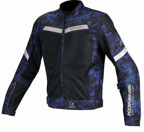 【KOMINE】プロテクトハーフメッシュジャケット (ブルーカモ×ブラック / XLサイズ) JK127BLCAMOBKXL(2446171)※代引不可