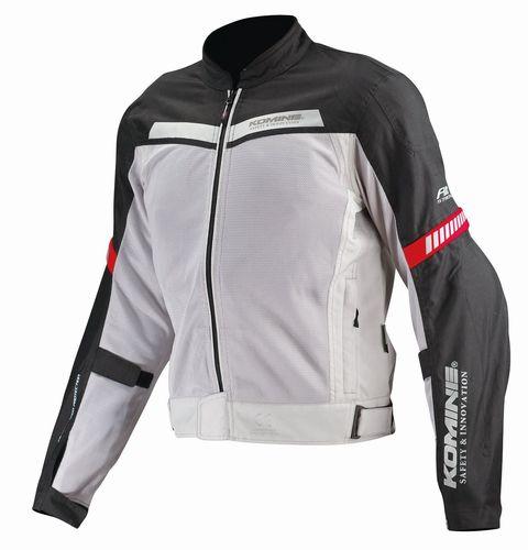 【KOMINE】プロテクトハーフメッシュジャケット (ライトグレー×ブラック / XLサイズ) JK127GYBKXL(2446181)※代引不可