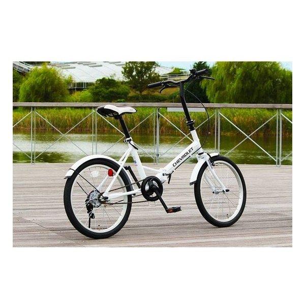 【ミムゴ】CHEVROLET FDB20E/20インチ折畳自転車[ホワイト] MGCV20E [在庫限り](2426611)※代引不可