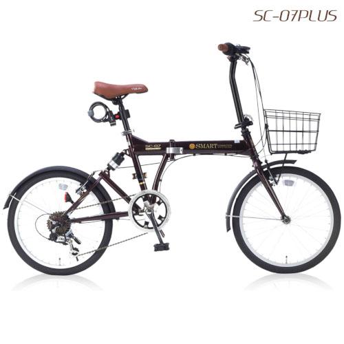 【MyPallas】折畳自転車20・6SP・オールインワン[エボニーブラウン]SC-07PLUS SC07PLUSEB(2428636)※代引不可