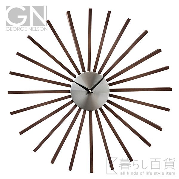 GEORGE NELSON Flutter Clock フラッタークロック ウォールクロック 【ジョージネルソン デザイン雑貨 掛時計 かけ時計 とけい 壁掛け アナログ 店舗 ミッドセンチュリー】