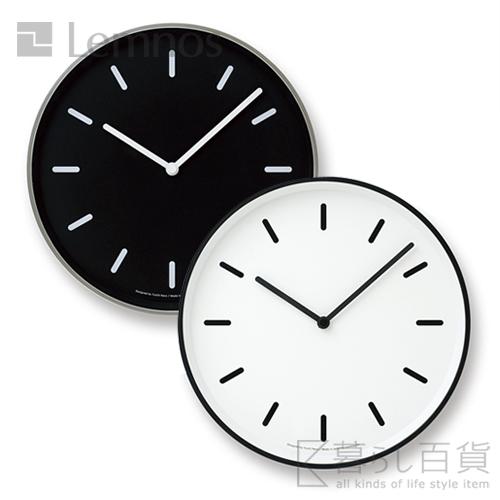 ポイント10倍 送料無料 美品 コントラストが美しい掛け時計 《全2色》Lemnos MONO 初売り Clock ライン モノクロック 掛け時計 タカタレムノス オフィス アルミ 国産 インテリア デザイン雑貨 シンプル 壁時計 壁掛け時計 鋳物 ウォールクロック