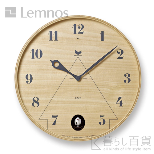 《全2色》Lemnos PACE パーチェ カッコー時計 【タカタレムノス デザイン雑貨 シンプル インテリア 壁時計 オフィス ウォールクロック 壁掛け時計】