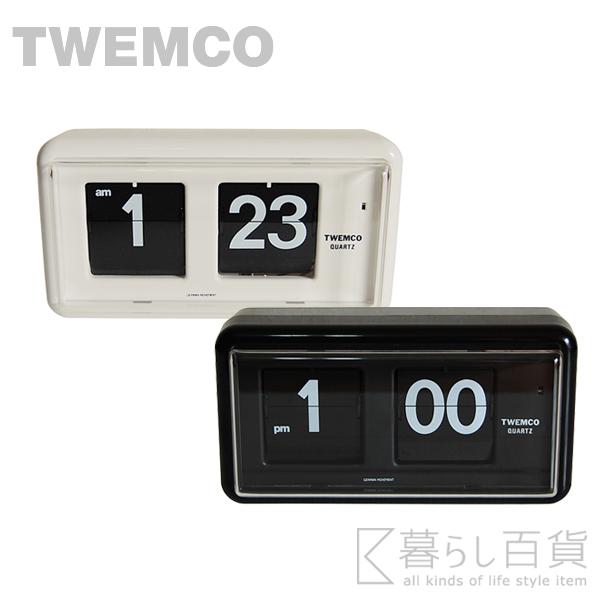 《全2色》TWEMCO Desk&Wall QT-30 置き掛け兼用パタパタ時計 デスク&ウォール クロック 【トゥエムコ トゥエンコデスククロック ウォールクロック デザイン雑貨 掛時計 かけ時計 とけい 壁掛け 置き時計】