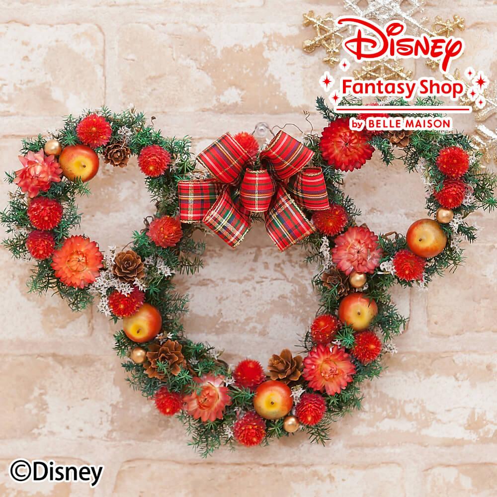 楽天市場】ディズニー/ドライフラワーリース「クリスマスミニーマウス