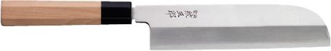 【受注生産】紋三郎 本霞 銀三/鎌型薄刃包丁(ステンレス)/150mm