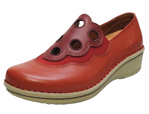 甲部分のフルーツデザインが可愛い 脱ぎ履き楽ちんなスリッポンタイプ|10819 健康靴なのにオシャレな靴 おしゃれ 本革 疲れにくい 健康靴 ウォーキング足ツボ 手縫いeWDIH2YE9