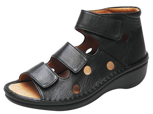【2019年春夏新作追加】No.10901(ブラック、ダークブルー、カーキ) 左右の抜き穴デザインがポイント!おしゃれ サンダル 歩きやすい 疲れにくい お出掛け 蒸れない 本革 通気性 ウォーキング 足ツボ 手縫い