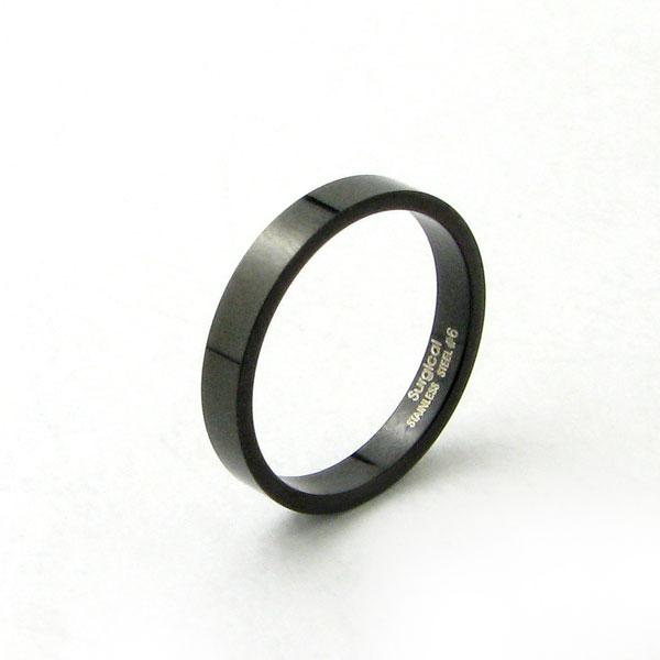 リピーター続出 ?大人気ステンレスリング リング 指輪 新着 新作販売 ペアリング 細身でシンプル ブラックカラーのステンレスリングKR305 ステンレス