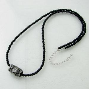 ネックレス メンズ RoyalStagZEST 天然石×ブラックコーティングシルバーブラックスピネルネックレスSN25-001