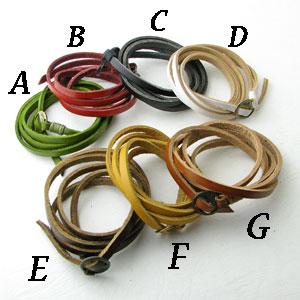 7色もあって迷っちゃう ブレスレット アンティーク調 5重巻きレザーブレス 毎日激安特売で 営業中です 革 klb17021-17027 感謝価格
