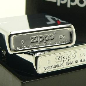 """""""高抛光铬""""Zippo # 250 * 油火石打火机"""