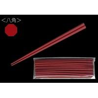 5000円以上 大黒工業 SPS製リユース箸 22.5cm 八角 朱 100膳(10膳入×10個) 3771185