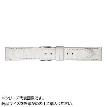 MIMOSA(ミモザ) 時計バンド P型押ワニ 22mm ホワイト (美錠:銀) CP-WH22 【時計/ジュエリー/アクセサリ  レビュー投稿で次回使える2000円クーポン全員にプレゼントその他】:イーグルアイ店