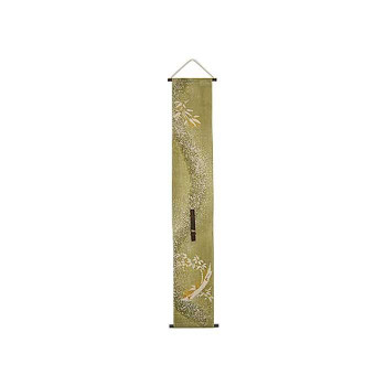 タペストリー 本麻一輪挿し(竹) きびら TA-20 緑 約巾19×丈120cm 【インテリア レビュー投稿で次回使える2000円クーポン全員にプレゼントその他インテリア】