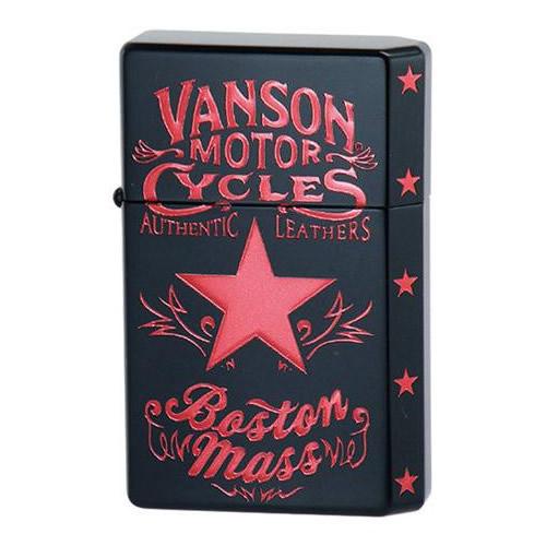 10000円以上送料無料 オイルライター vanson×GEAR TOP V-GT-08 スターデザイン ブラック 【文具・玩具 レビュー投稿で次回使える2000円クーポン全員にプレゼント玩具】