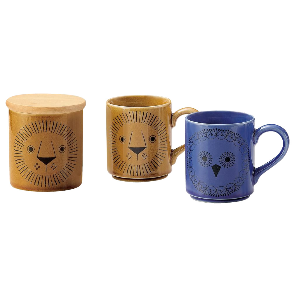 5000円以上 三郷陶器 Sango Mikke(ミッケ) ストッカー付ペアマグ 6791-03