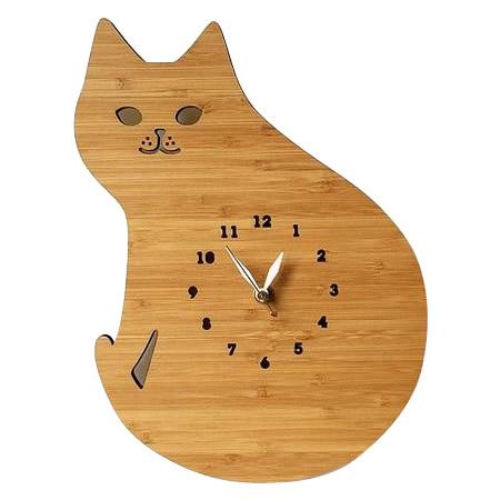 5000円以上送料無料 Made in America DECOYLAB(デコイラボ) 掛け時計 CAT ネコ CT 【インテリア レビュー投稿で次回使える2000円クーポン全員にプレゼント置物・掛け時計】