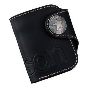 10000円以上送料無料 VANSON バンソン 二つ折りウォレット VP-115-02 ブラック 【服飾雑貨 レビュー投稿で次回使える2000円クーポン全員にプレゼント財布・カードケース】