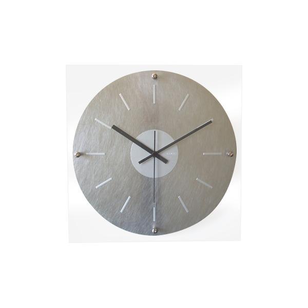 10000円以上送料無料 アルミクロック スイープ シルバー V-2 【インテリア レビュー投稿で次回使える2000円クーポン全員にプレゼント置物・掛け時計】