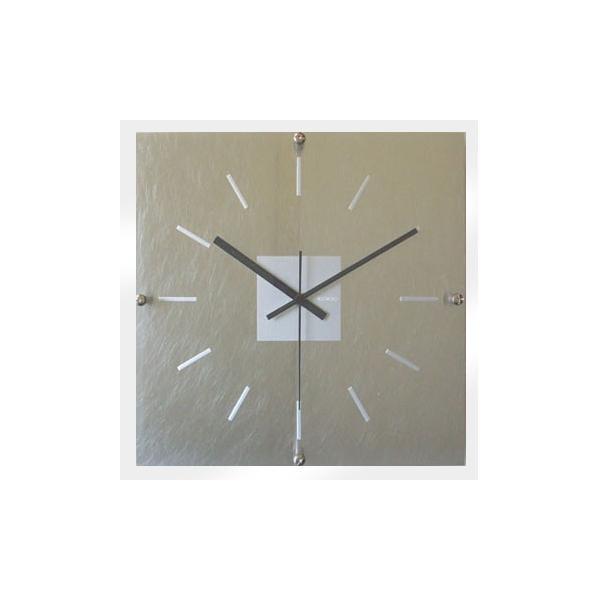 10000円以上送料無料 アルミクロック スイープ シルバー V-3 【インテリア レビュー投稿で次回使える2000円クーポン全員にプレゼント置物・掛け時計】