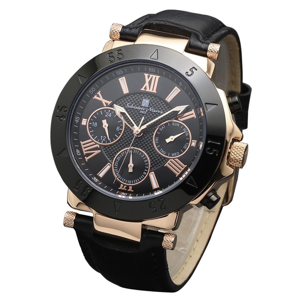 10000円以上送料無料 Salvatore Marra(サルバトーレマーラ) 腕時計 SM14118S-PGBK 【時計/ジュエリー/アクセサリ レビュー投稿で次回使える2000円クーポン全員にプレゼント腕時計 男性用】